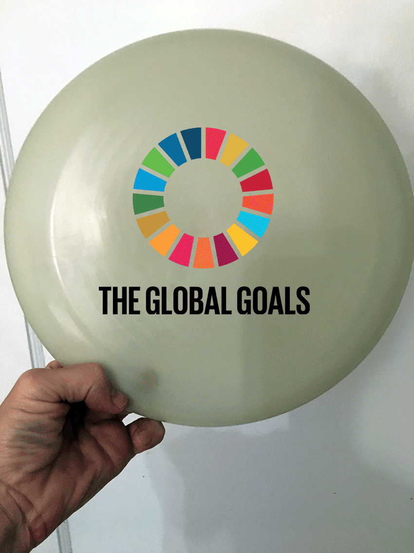 recycled ocean bound plastic frisbee made in usa