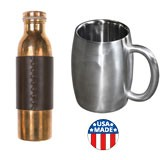Steel, copper & aluminum bottles, mugs made in USA