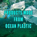 Recycled ocean plastic products