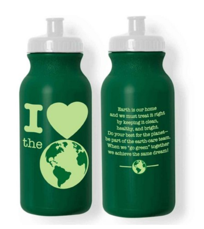 Recycled plastic water bottles